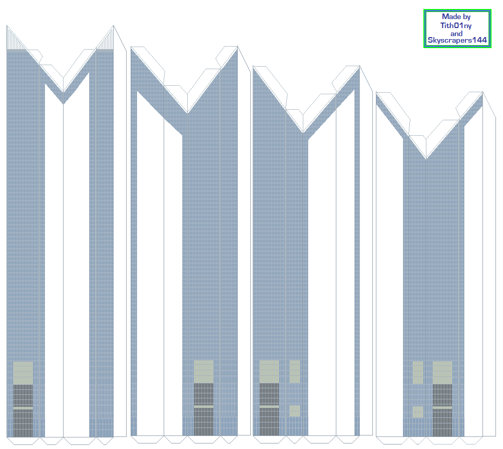 World Trade Center Paper Model Construction